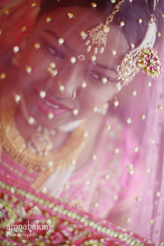 A Pink Bridal Ghoonghat