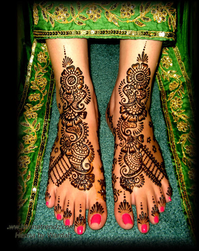 Henna by Wardah Bridal Feet Henna Trendz By Wardah 
