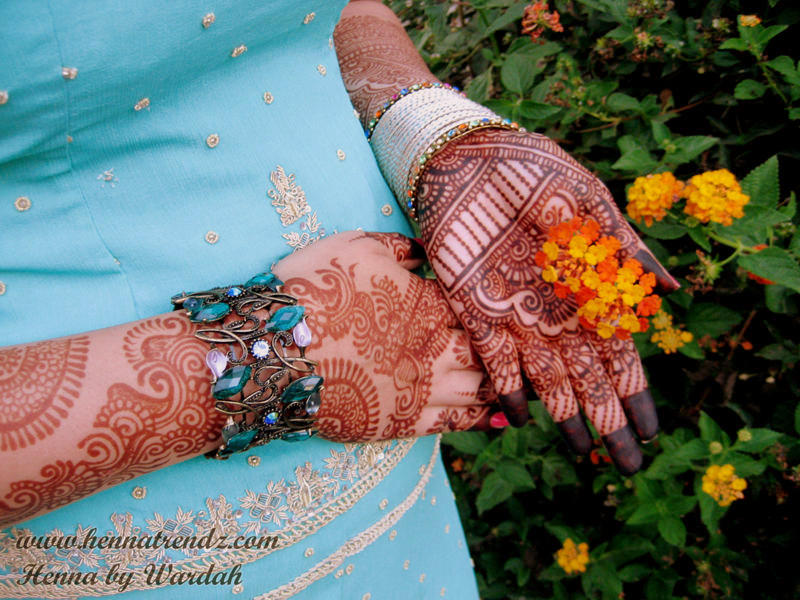 Henna by Wardah Bridal Hands Blue Henna Trendz By Wardah 