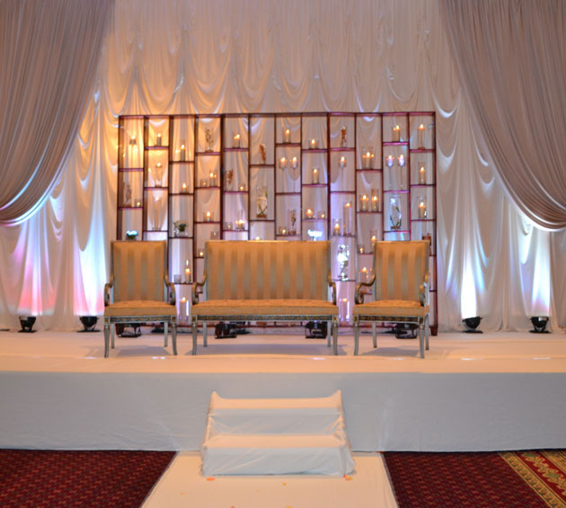 Candle Wall Stage By Profesional Party Planners Majestic Wedding Stages By Professional Party Planners 
