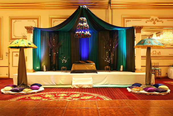 Peacock Themed Mehndi Stage Professional Party Planners Majestic Wedding Stages By Professional Party Planners 