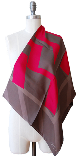 Gray HotPink Scarves By Sayedeh: Fall 2011 Collection 