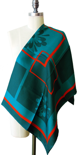 Teal Scarves By Sayedeh: Fall 2011 Collection 