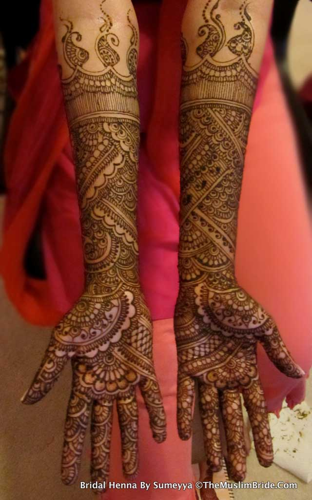 Sanas Bridal Henna Back Full Hands By Sumeyya The Muslim Bride1 The Muslim Bride Special Wedding Feature: Sanas Bridal Henna Application Day