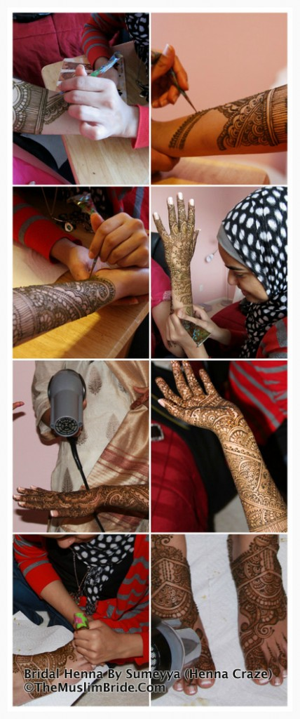 The Muslim Bride Special Wedding Feature: Sana's Bridal Henna Application Day