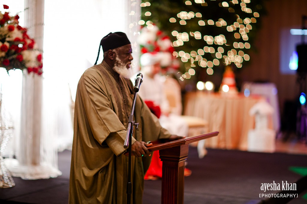 Imam Sheikh Ali Suleiman Ali speaking at Sana and Shahzebs Rukhsati wedding reception The Muslim Bride 1024x682 The Muslim Bride Special Wedding Feature: Sana and Shahzebs Wedding Reception