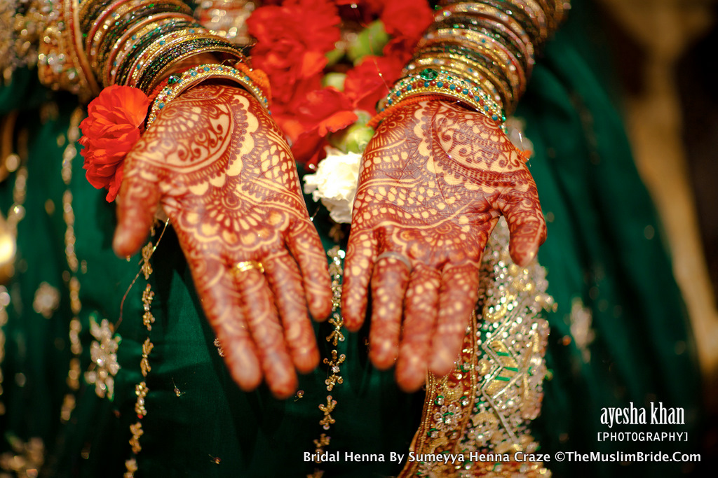 Sana bridal henna hands at her Mehndi Henna Event
