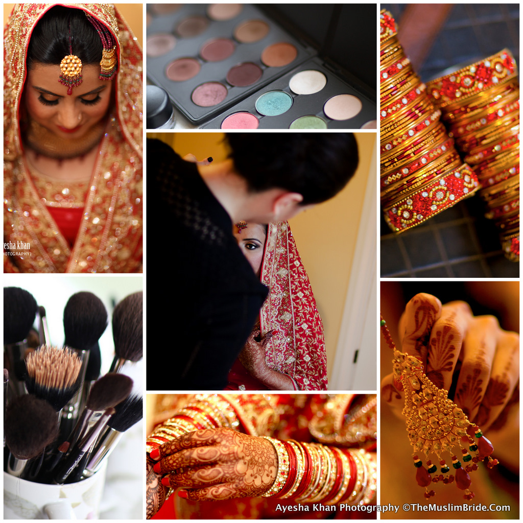 Sana Bridal Makeup Collage The Muslim Bride The Muslim Bride Special Wedding Feature: Sana and Shahzebs Wedding Reception