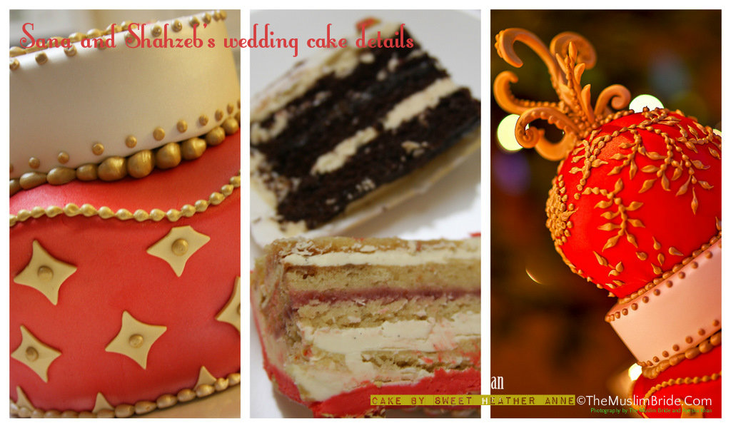 Sana Wedding Cake Details Collage 4 The Muslim Bride The Muslim Bride Special Wedding Feature: Sana and Shahzebs Wedding Cake