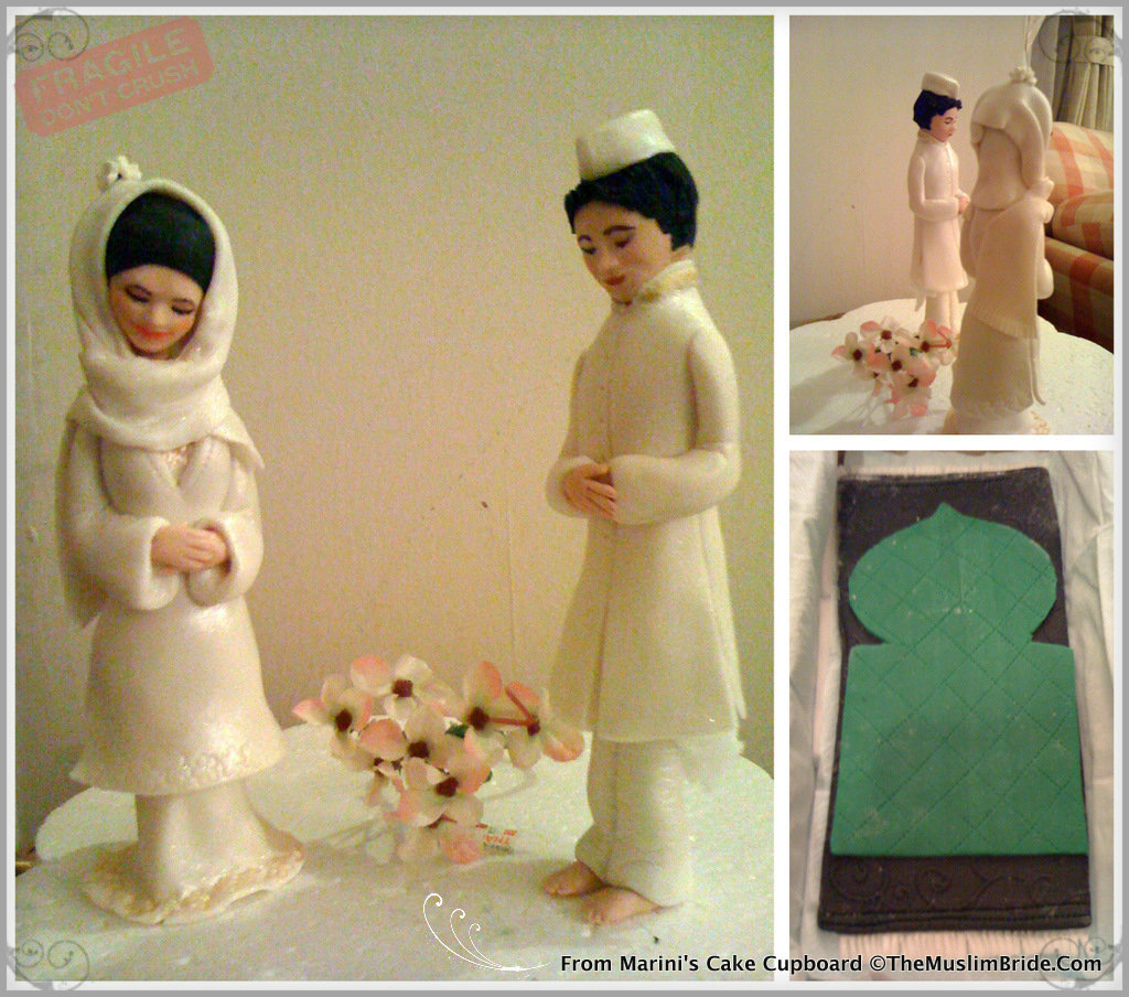 Muslim Cake Topper From Marinis Cake Cupboard The Muslim Bride Handmade Wedding Cake Topper by Cake Cupboard