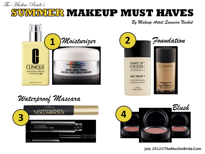 The Muslim Bride Summer Makeup Must Haves by Sumaira Nashat Summer Makeup Must Haves By Sumaira Nashat