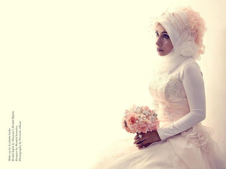 Pink Peach Bridal Hijab Lookbook 2012 by Shumsies Bridal Hijabs Bridal Hijab Lookbook By Hijab Stylist Shamma